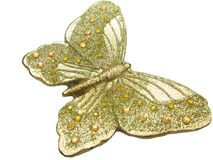 Butterfly bronze spa aroma candles Royalty Free Stock Photography