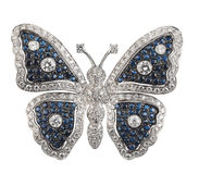 Butterfly brooch Stock Images