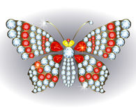 Butterfly brooch Royalty Free Stock Images