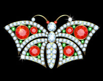 Butterfly brooch Stock Image