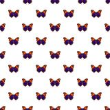 Butterfly brown pattern seamless. Butterfly brown pattern in cartoon style. Seamless pattern vector illustration Stock Photography