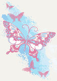 Butterfly brush stroke. Vector illustration of butterflies Royalty Free Stock Images