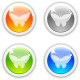 Butterfly buttons. Stock Photo