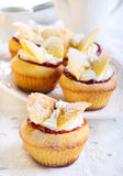 Butterfly cakes Stock Photo