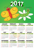 2017 butterfly calendar Stock Photography