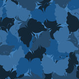 Butterfly camouflage seamless vector pattern Royalty Free Stock Photos