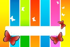 Butterfly card Royalty Free Stock Photography