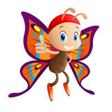 Butterfly. Cartoon illustration. EPS 10 file and large jpg included Stock Image