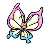 Butterfly cartoon illustration Royalty Free Stock Images