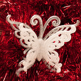 Butterfly christmas ornament Royalty Free Stock Image