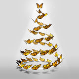Butterfly Christmas Tree Royalty Free Stock Photo