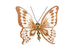 Butterfly Christmas tree ornament Royalty Free Stock Photos