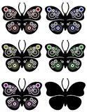 Butterfly Circles Ornament Stock Photography