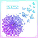 Butterfly Clock Colored Stock Photos