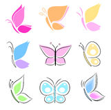Butterfly collection Stock Image