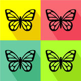 Butterfly color icon great for any use. Vector EPS10. Stock Photos