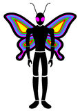 Butterfly color man Royalty Free Stock Photography