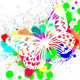 Butterfly from color splashes Royalty Free Stock Images