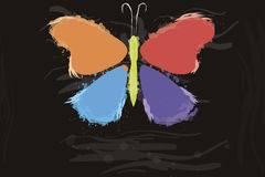 Butterfly from color splashes Royalty Free Stock Photos