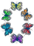 Butterfly Color Wheel Royalty Free Stock Images