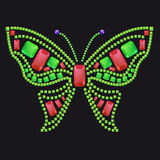 Butterfly from colored gems. Butterfly from different colored gems: rubies, emeralds royalty free illustration