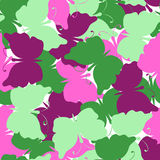 Butterfly colored seamless vector pattern Royalty Free Stock Images