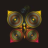 Butterfly. Colorful abstract illustration of butterfly. Vector illustration Stock Image