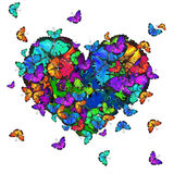 Butterfly colorful background Stock Photo