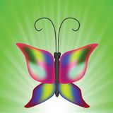 Butterfly. Colorful illustration with butterfly for your design Stock Images