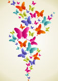 Butterfly colorful splash Royalty Free Stock Photography