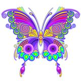 Butterfly Colorful Tattoo Style Stock Photo