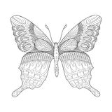 Butterfly coloring book for adults vector Stock Images