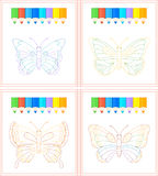 Butterfly coloring Royalty Free Stock Images