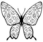 Butterfly coloring for kids and adults for moments of relaxation royalty free stock photography
