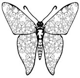 Butterfly coloring for kids and adults for moments of relaxation stock photography