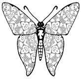 Butterfly coloring for kids and adults for moments of relaxation royalty free stock photos