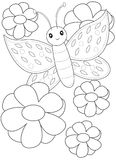 Butterfly coloring page Royalty Free Stock Photo