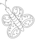 Butterfly coloring page Stock Images