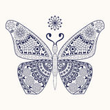 Butterfly for coloring page Royalty Free Stock Photos
