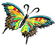 Butterfly colourful illustration Stock Photography