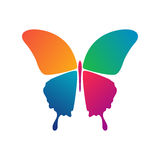 Butterfly conceptual icon Stock Images