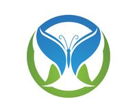Butterfly conceptual simple, colorful icon. Logo. Vector illustr Royalty Free Stock Image