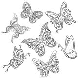 Butterfly, contours Stock Photos