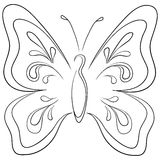 Butterfly, contours Stock Images