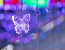 Butterfly crystal and abstract light bokeh Stock Photo