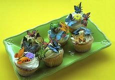 Butterfly cupcakes Royalty Free Stock Photography