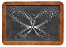 Butterfly curve on blackboard Stock Images
