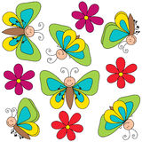 Butterfly cute drawing Stock Photo