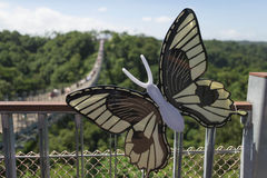 A butterfly decoration in Sky Bridge Stock Images