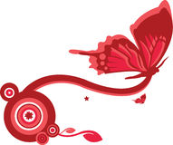 Butterfly Design 2. A Butterfly Design in Pink And Red